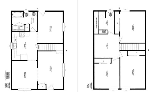 Friesen 39 s custom cabins plan 1 photos for 24x36 2 story house plans