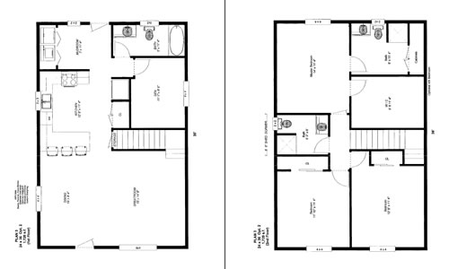 24 x 36 house plan with loft joy studio design gallery for Cabin addition floor plans