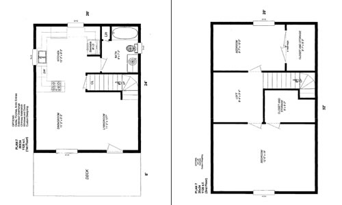 Cabin floor plans for 20x24 cabin layout