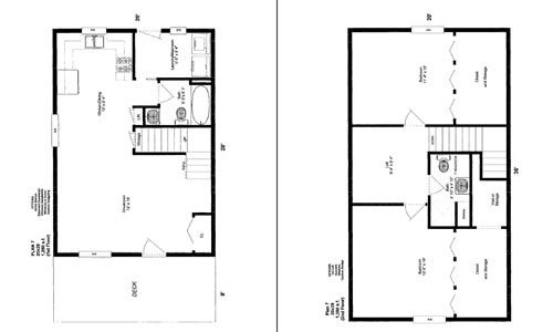 Cabin floor plans 20x30 joy studio design gallery best for Cabin addition floor plans