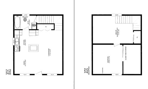 Friesen 39 s custom cabins plan 1 photos for 24 x 24 apartment layout