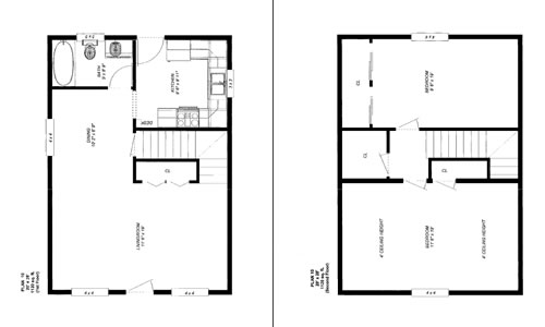 Friesen 39 s custom cabins plan 1 photos for 20 x 32 cabin with loft